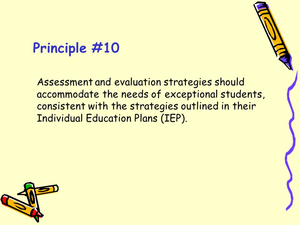 Principle #10
