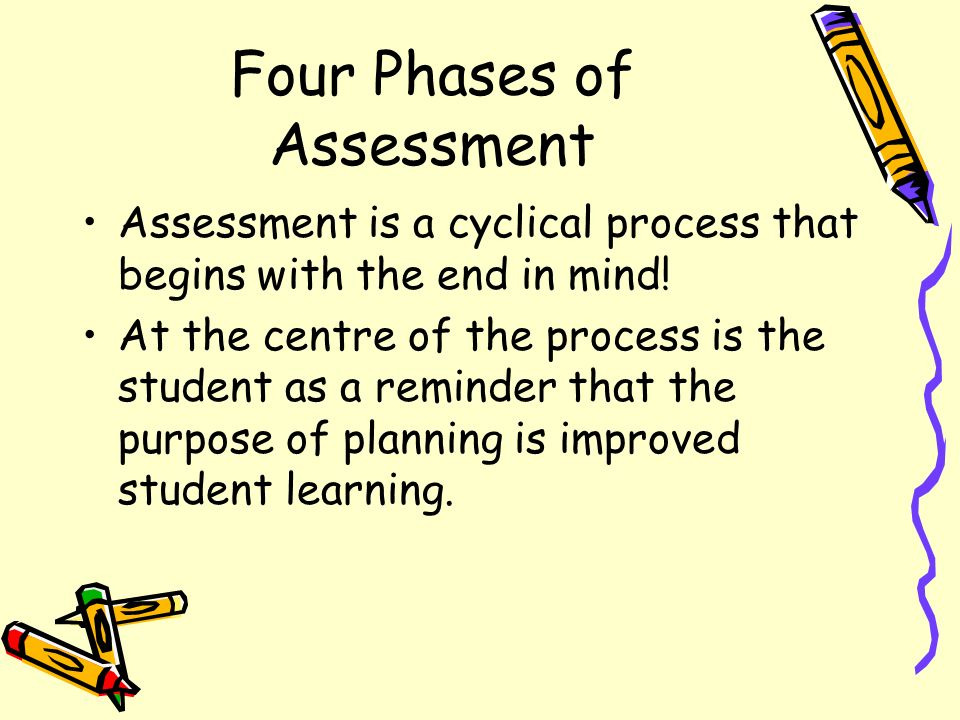 Four Phases of Assessment