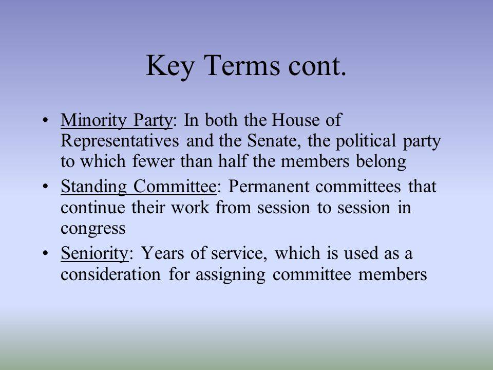 Congress terms and sessions