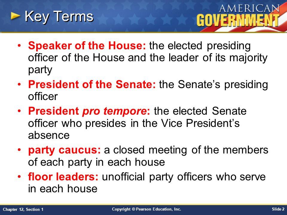 Objectives Describe How And When Congress Convenes.