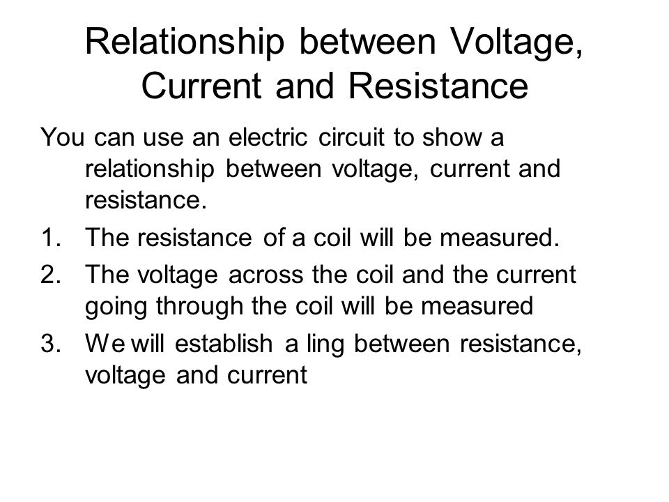 relationship between voltage current circuit images