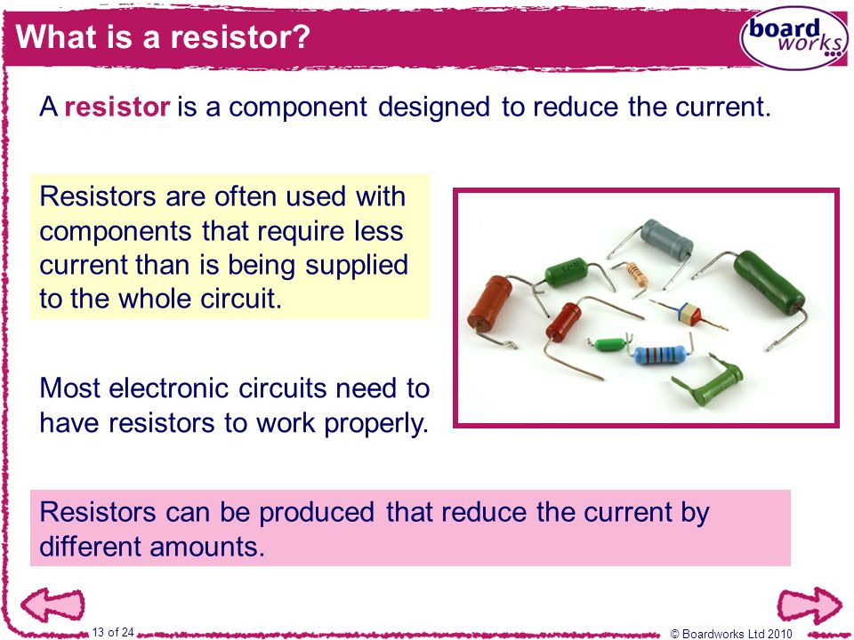 Boardworks BTEC First Applied Science Electric Circuits