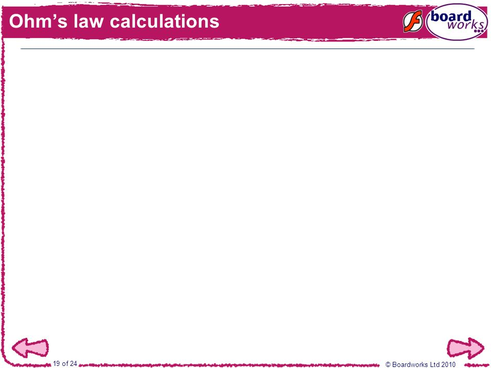 Ohm's law calculations