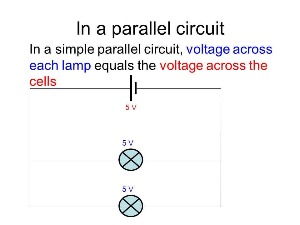 In A Parallel Circuit Simple Voltage Across Each Lamp Equals The
