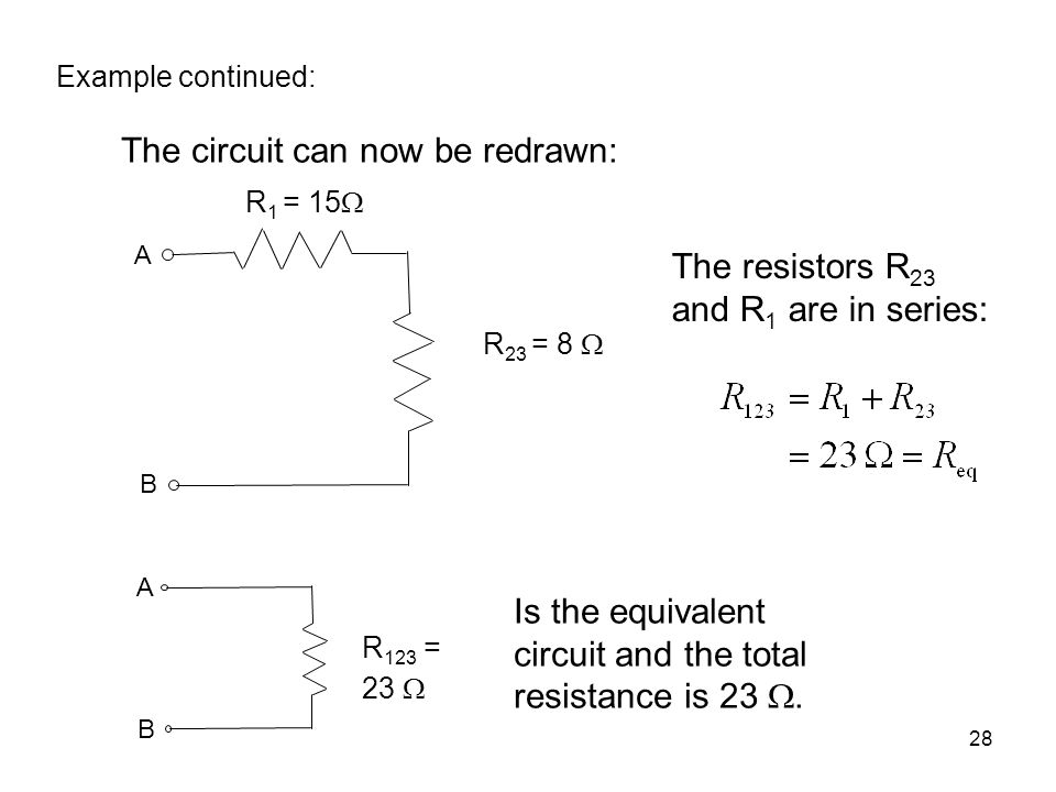 The circuit can now be redrawn: