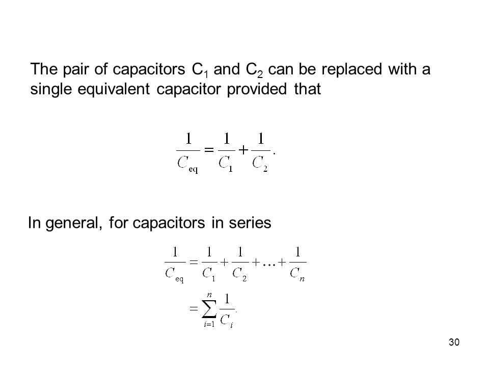 The pair of capacitors C1 and C2 can be replaced with a single equivalent capacitor provided that