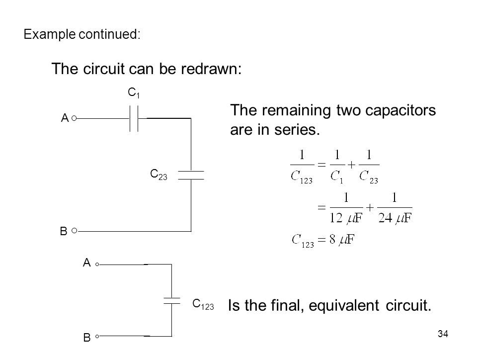 The circuit can be redrawn: