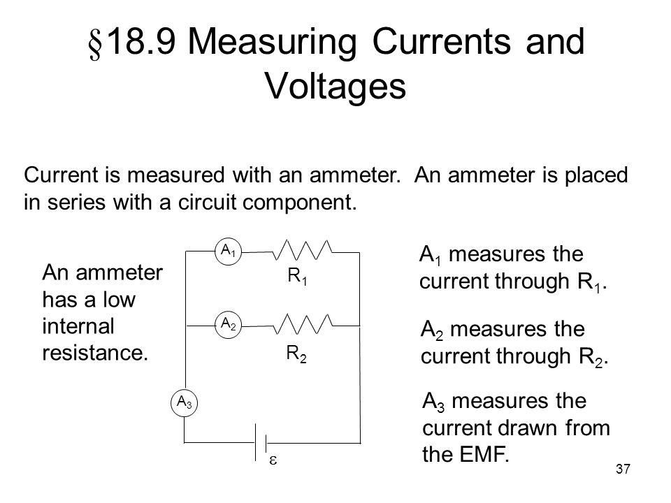 §18.9 Measuring Currents and Voltages