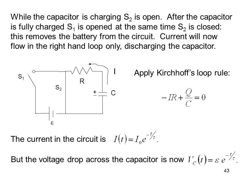Apply Kirchhoff's loop rule: