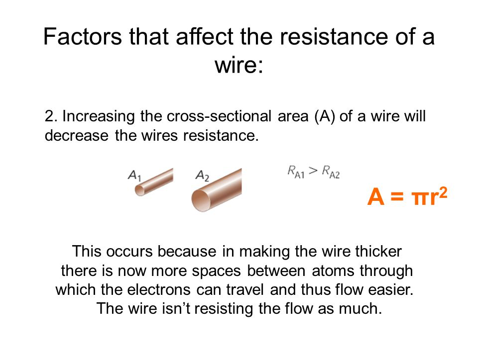 an investigation on the factors that affects the resistance of a wire How do the following factors affect the resistance of a wire and how please explain well: cross-sectional area, magnetism and material.