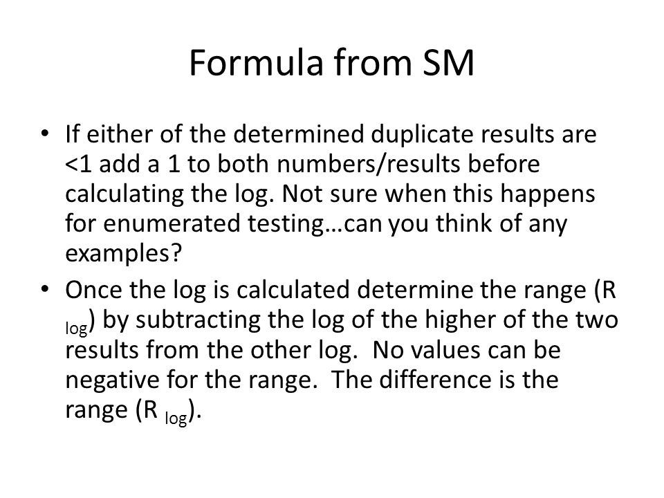 Formula from SM