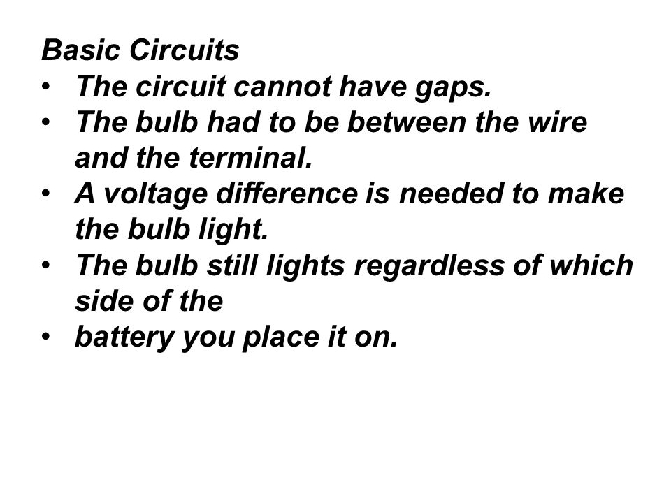 electric circuits electric potential difference