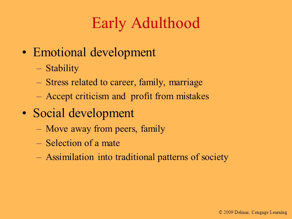 social development in adulthood Development in early & middle adulthood  achieving adult social and civic responsibility  development in late adulthood development in adolescence.