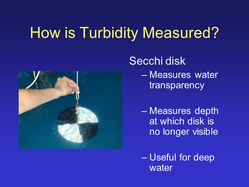 execise 8 light transparency and turbidity Measuring lake turbidity using a secchi disk - serc - carleton                serccarletonedu/microbelife/research_methods/environ_sampling/turbidityhtml.