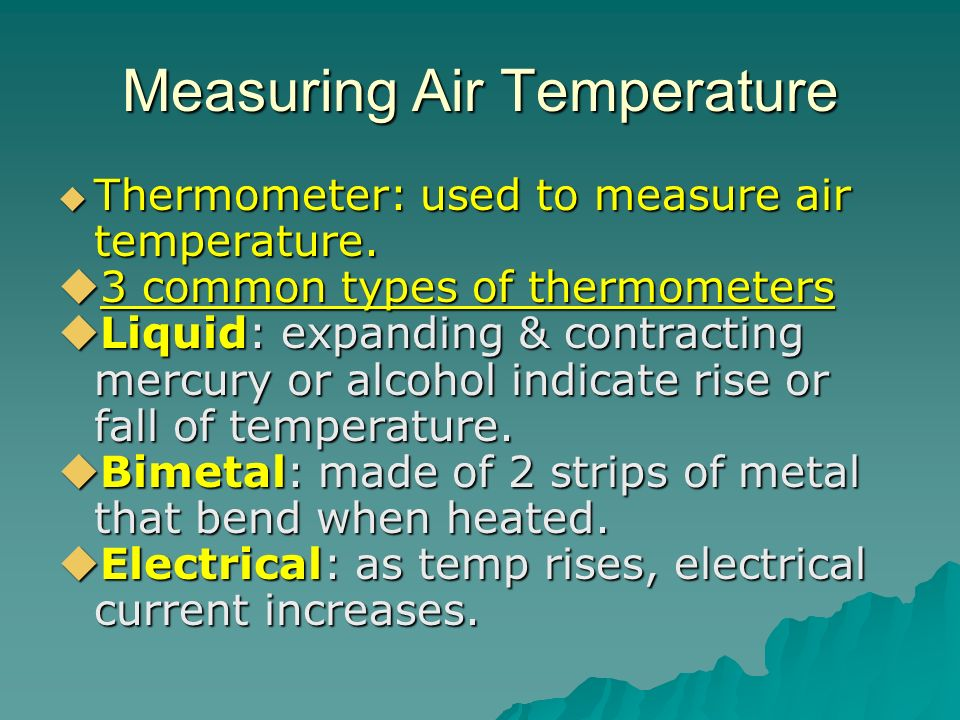 Measuring Air Temperature