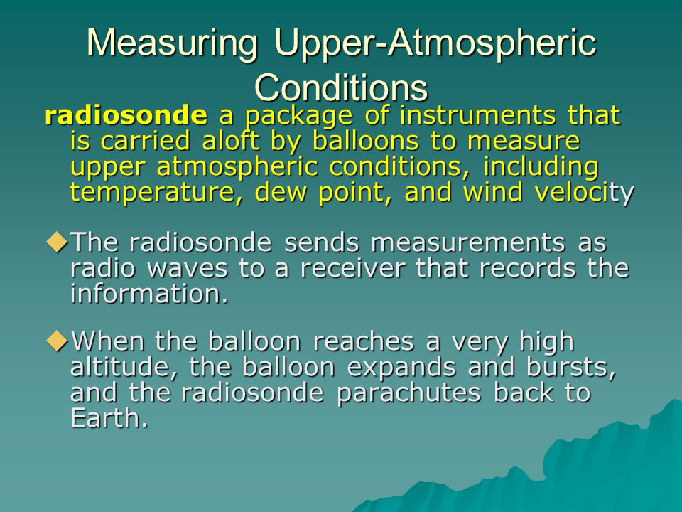 Measuring Upper-Atmospheric Conditions