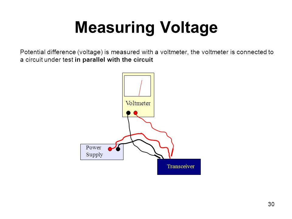Voltmeter In Parallel : Chapter basic electronics theory ppt download