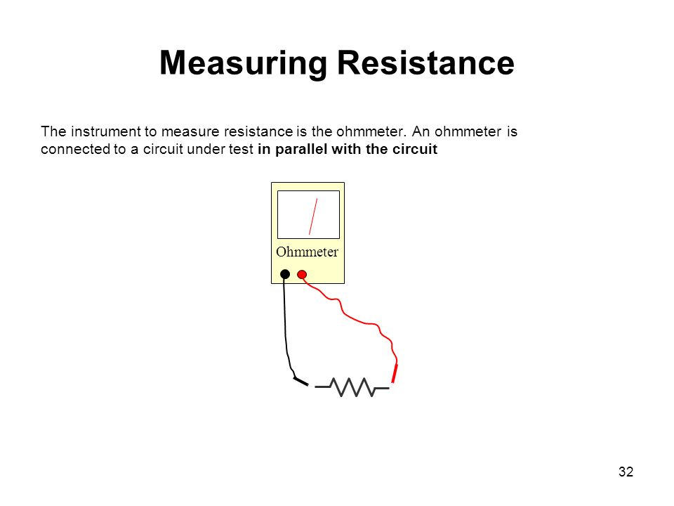 Finding Resistance In Circuit Ohmmeter : Chapter basic electronics theory ppt download