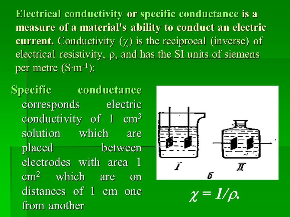 Electrical Conductivity Measurement : Electrochemical methods of analysis ppt video online