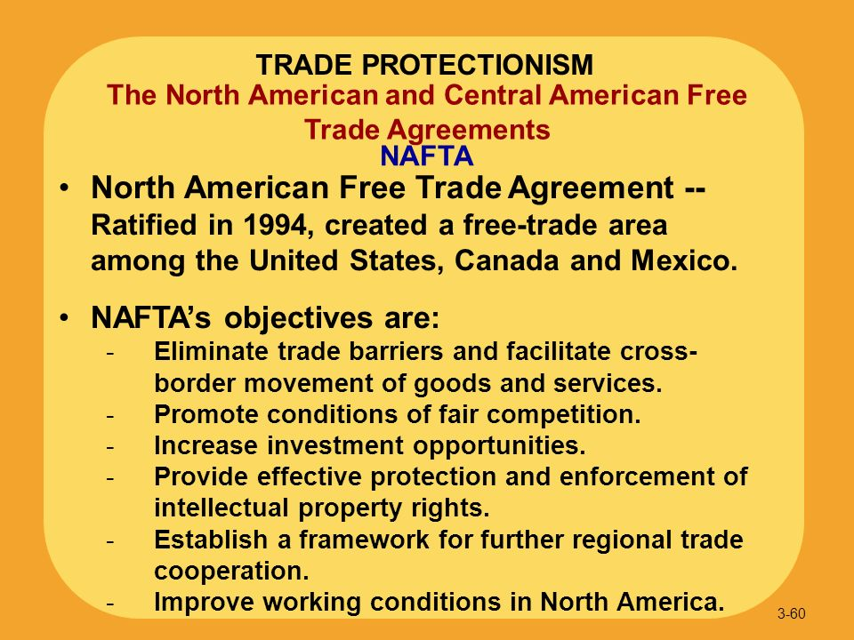an introduction to the north american free trade agreement Introduction the objectives of this essay are to develop a fundamental  understanding of the north american free trade agreement (nafta) and to  address the.