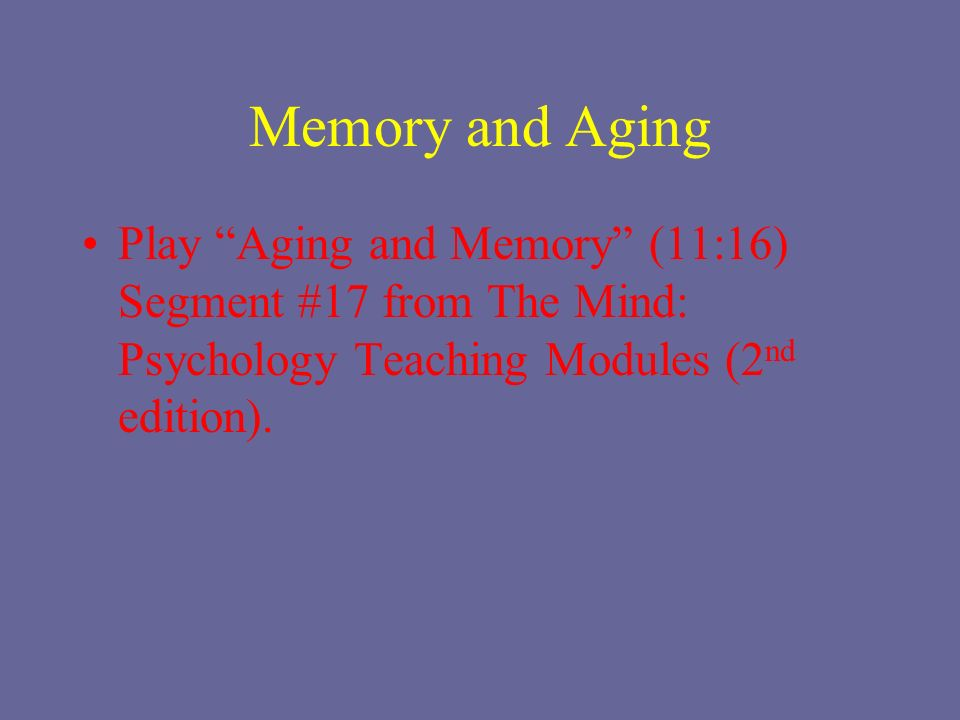 aging mind and memory Learning new skills keeps an aging mind sharp  both — which required active  engagement and tapped working memory, long-term memory.