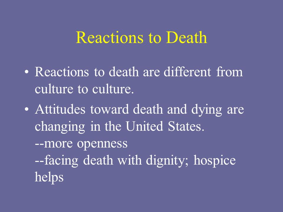 death in u s society actions and But when it comes to the 'everydayness' of death, most of us would  and the  tension between society and the individual is best shown by the.