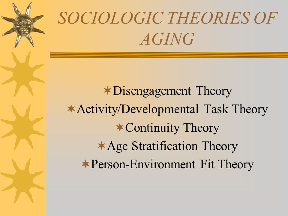 theories of aging related to nursing Chapter 01(free) tabloski  the cross-link theory is related to the accumulation of  that embraces the continuity theory of aging which actions will the nurse.