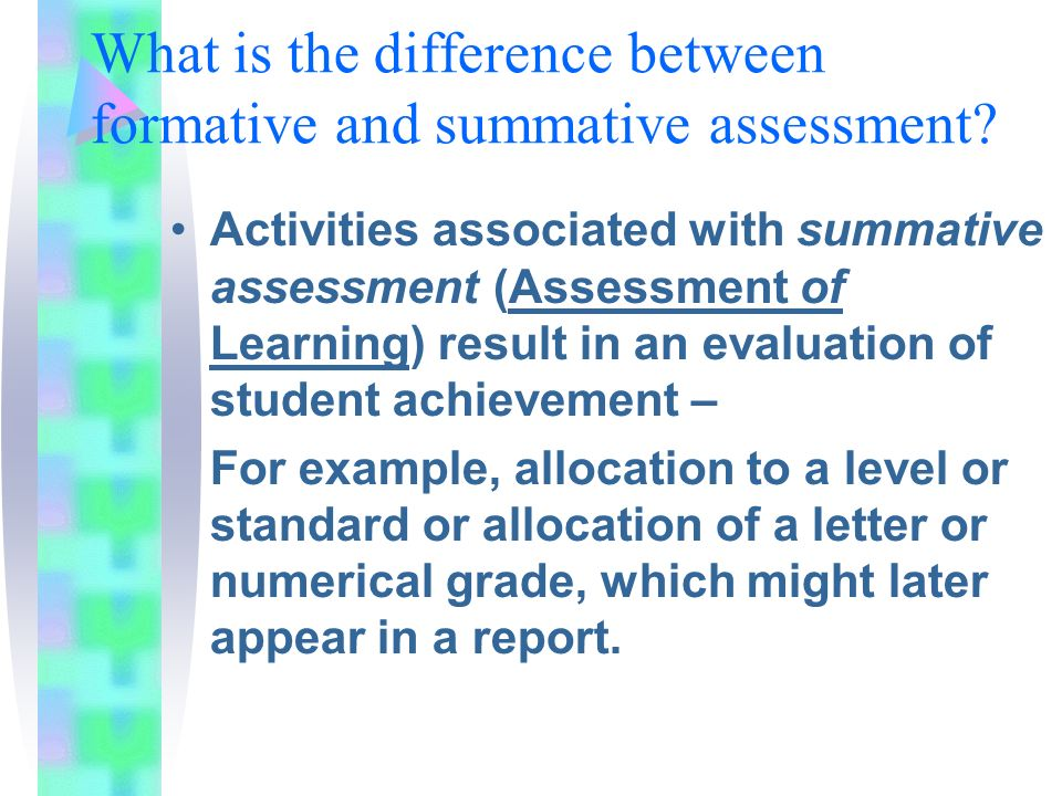 Informal  Formal Summative Formative  Diagnostic  Ppt Video