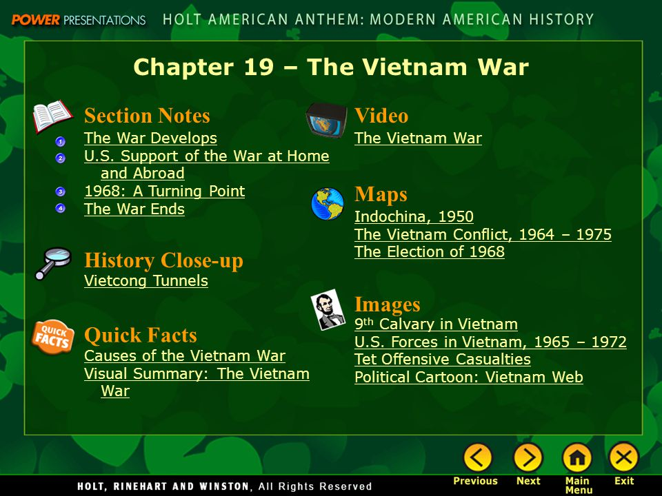 the two main causes of the vietnam war Lillian ball rachel glazer vuth tram the causes of the vietnam war the vietnam war was a war that was fought in vietnam, laos, and cambodia from november 1, 1955 to april 30, 1975 vietnam war there are many different causes that contribute to the purpose for this war.