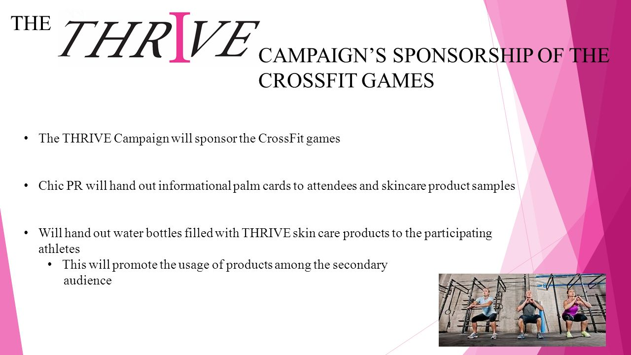 CAMPAIGN'S SPONSORSHIP OF THE CROSSFIT GAMES