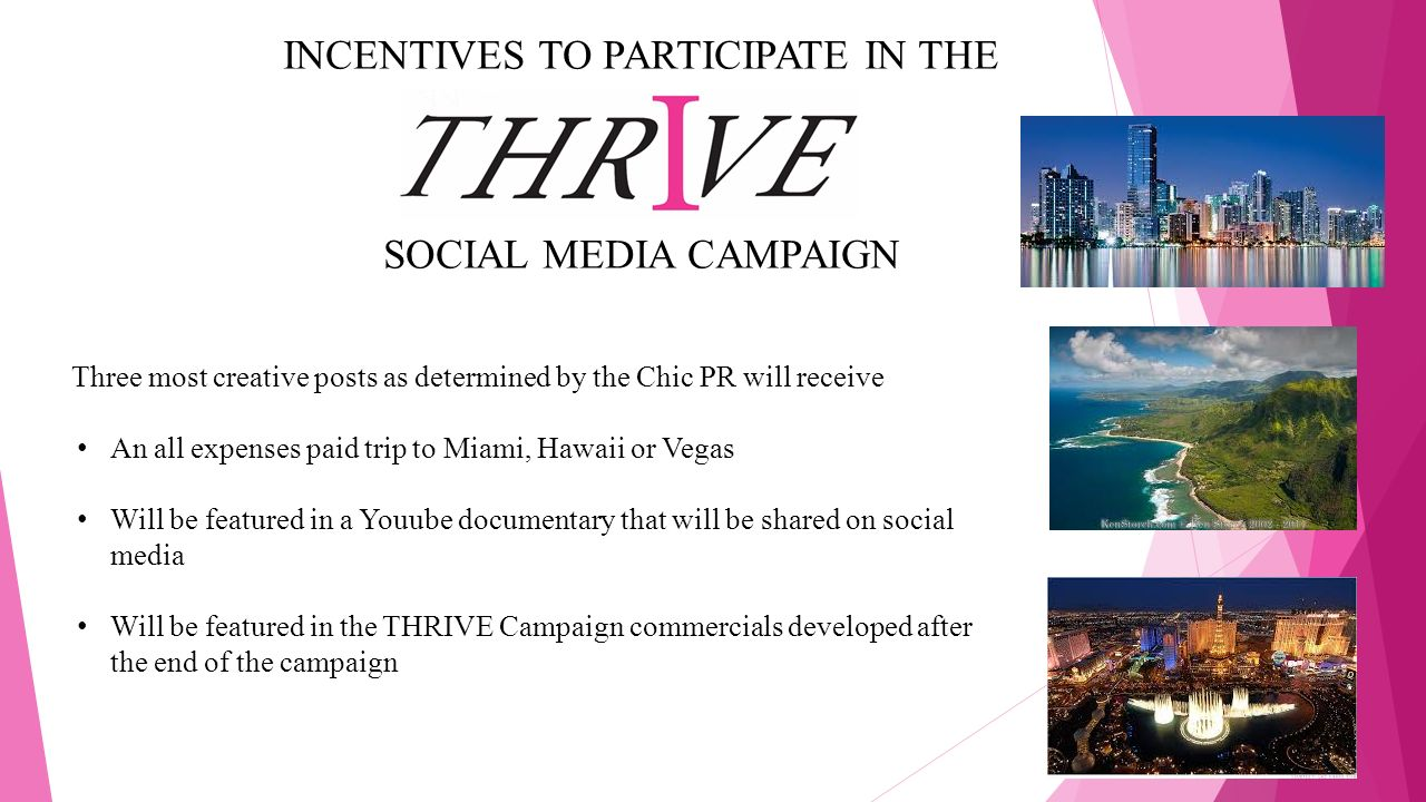 INCENTIVES TO PARTICIPATE IN THE SOCIAL MEDIA CAMPAIGN
