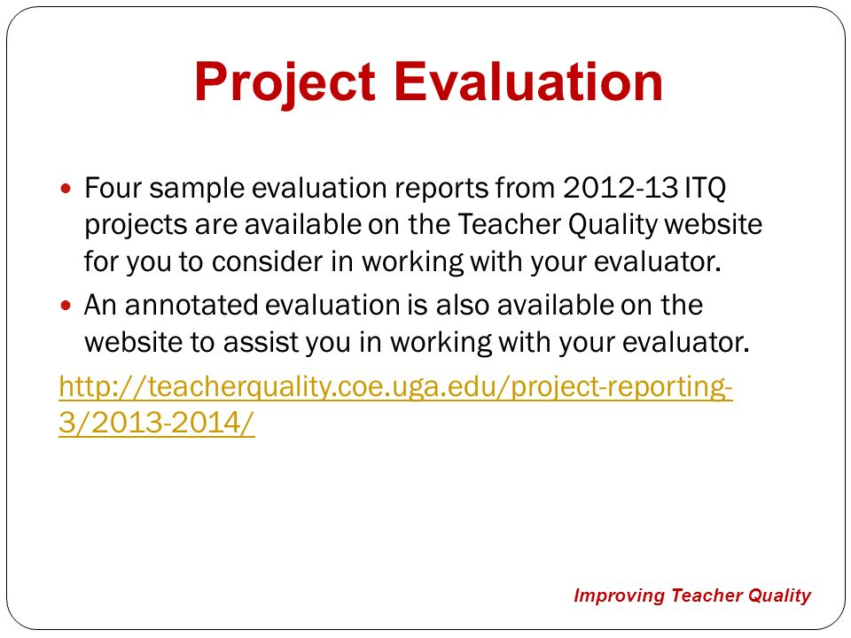 Improving Teacher Quality Project Director Information  Ppt Video