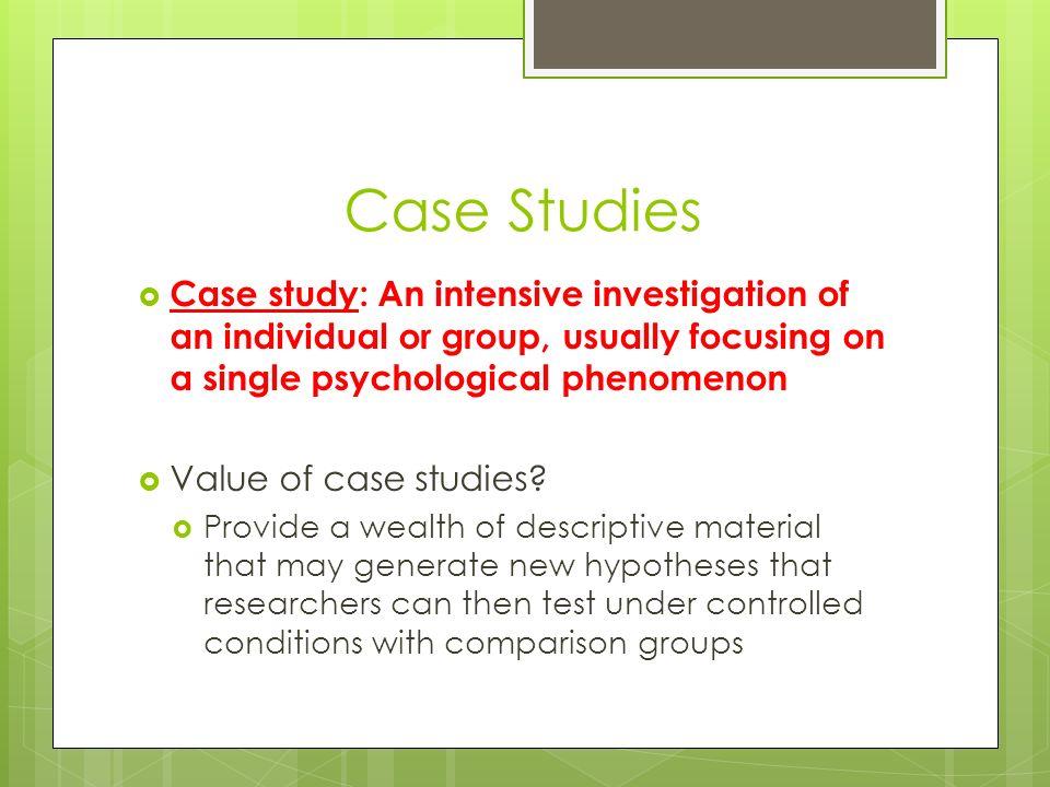 Custom case study on psychology in uk