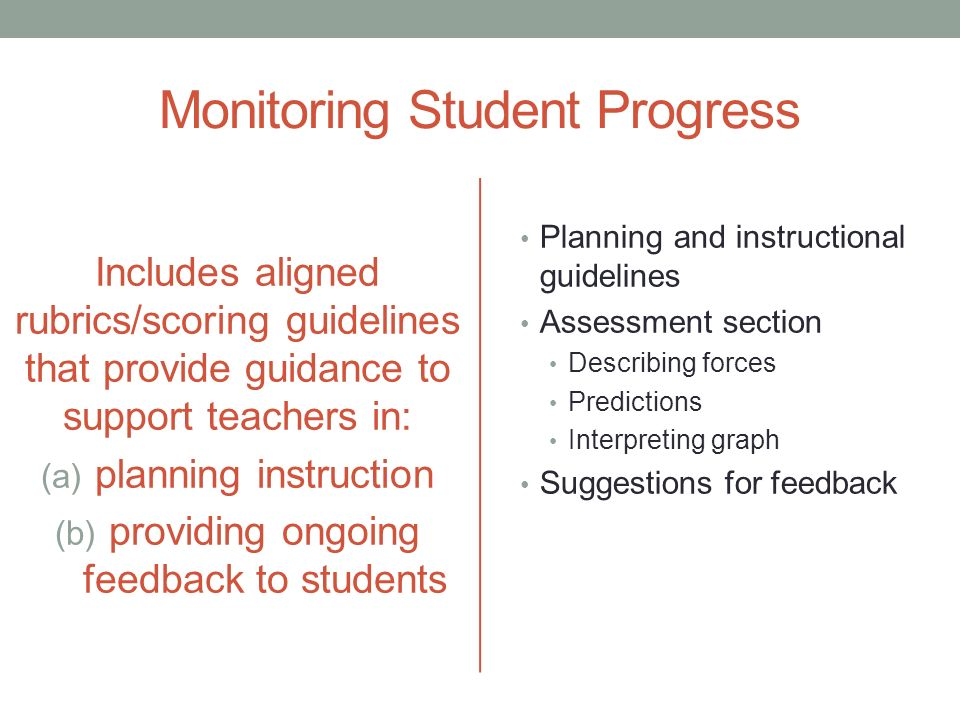 providing feedback and monitoring student progress essay Analysis and my questions and giving feedback  the study will focus on developing an sms for testing and monitoring the progress of the students' theoretical.