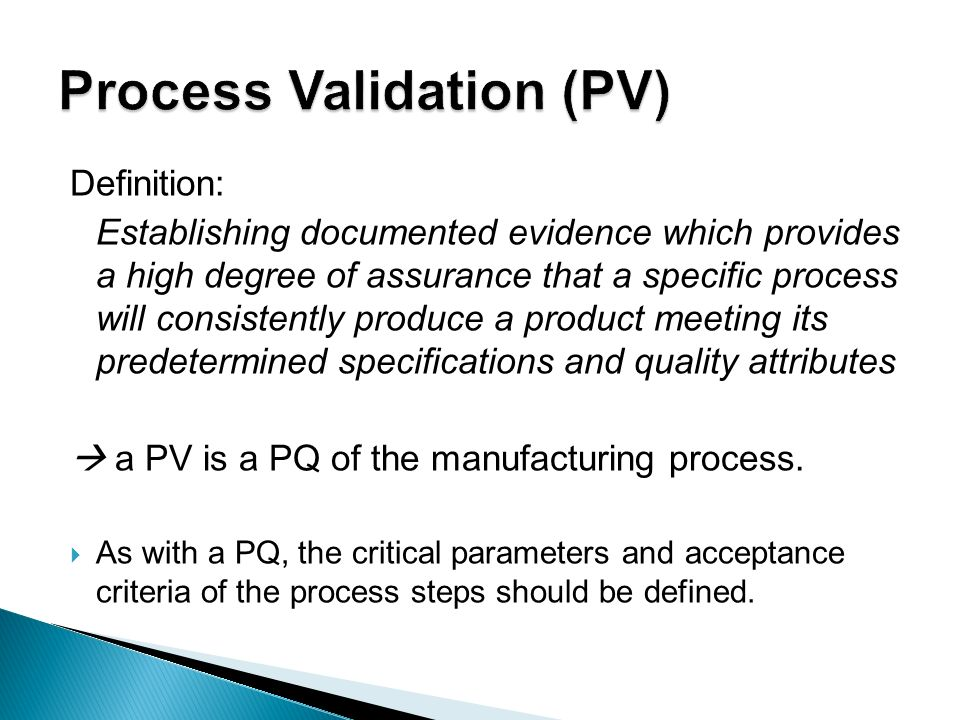 critical parameters affecting process validation [quote=kvkiran]dear all, can anyone quote me what is the exact definition of critical processes thanking you, kvkiran validation analyst[/quote] hi kiran, critical process can be defined.