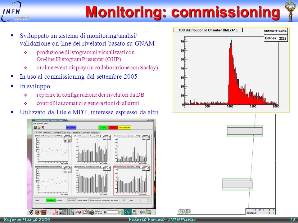 Monitoring: commissioning