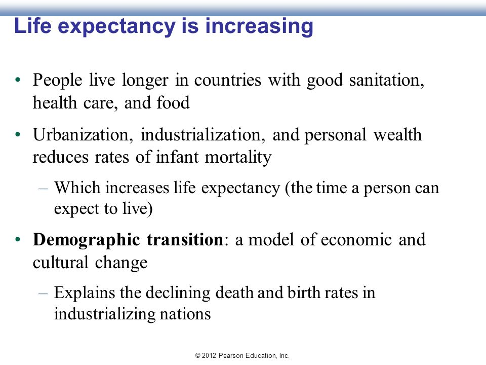 is human life expectancy increasing Overall, human life expectancy has been rapidly increasing during the past two hundred years, particularly in developing countries today, the average life expectancy in the united states is 788 years.