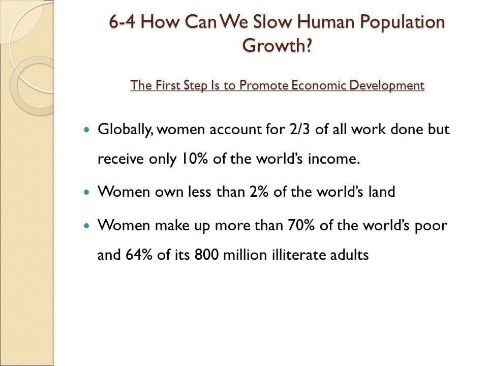 6-4 How Can We Slow Human Population Growth