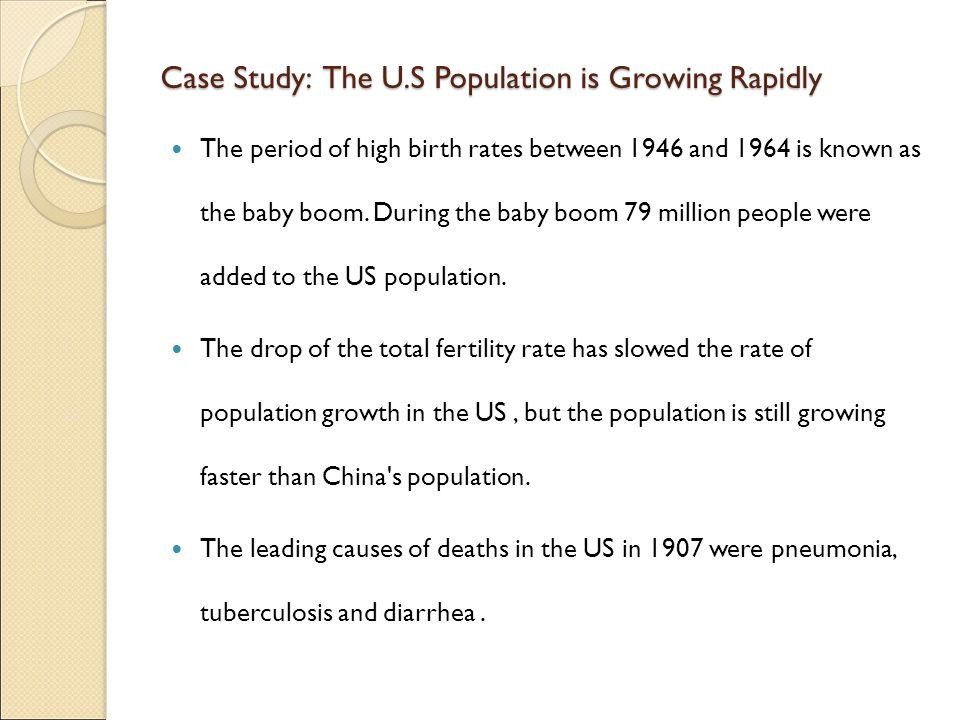 Case Study: The U.S Population is Growing Rapidly