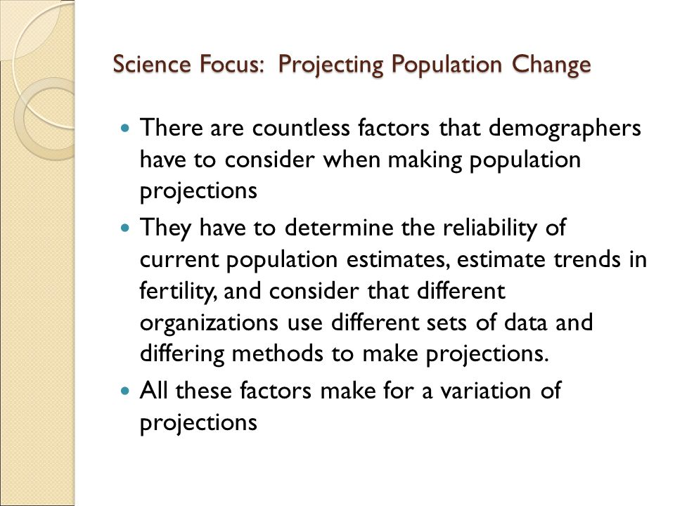 Science Focus: Projecting Population Change