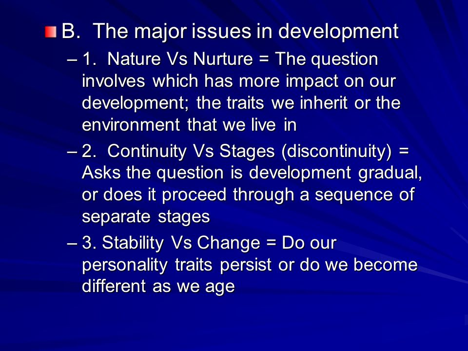 Nature Vs Nurture Stability Vs Change