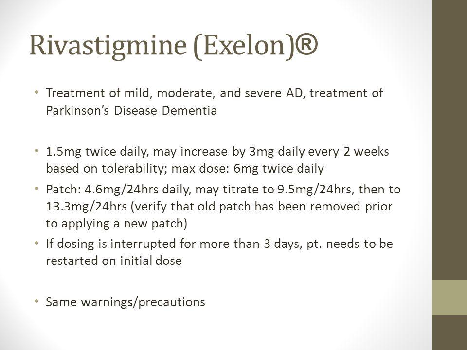 Exelon patch dementia