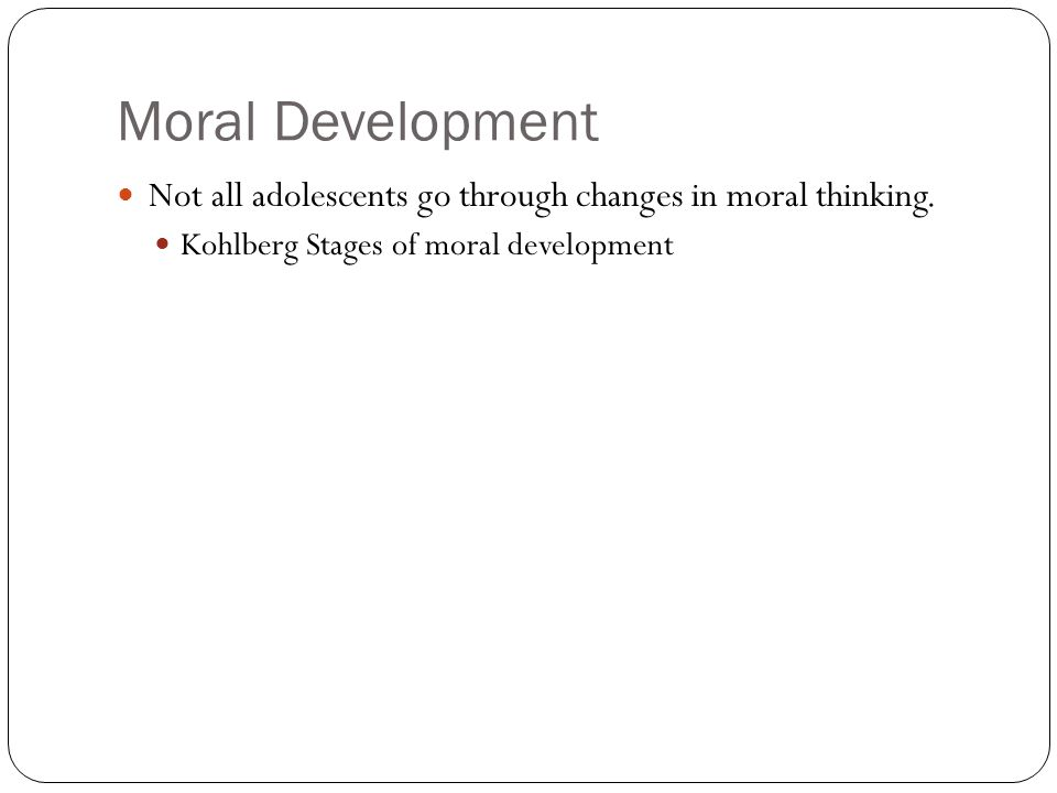 Something Moral development adults