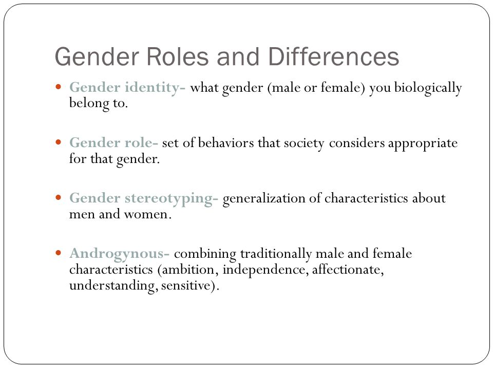 Meaning Of Agreement On Gender Roles