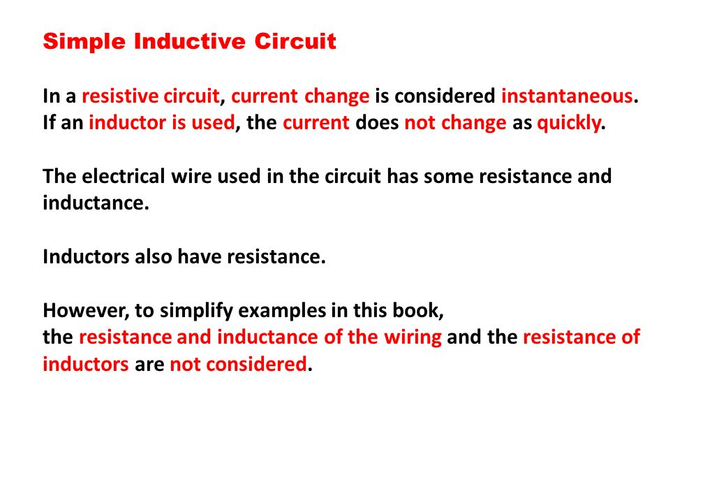 Simple Inductive Circuit