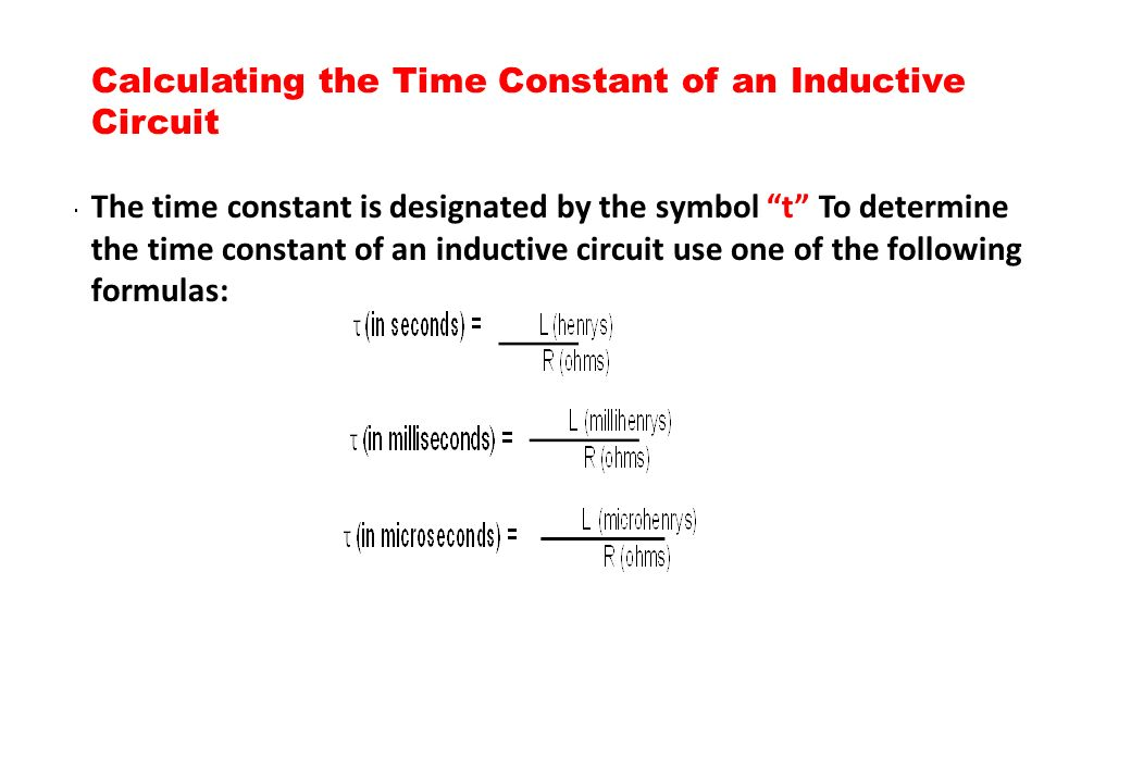 Calculating the Time Constant of an Inductive Circuit
