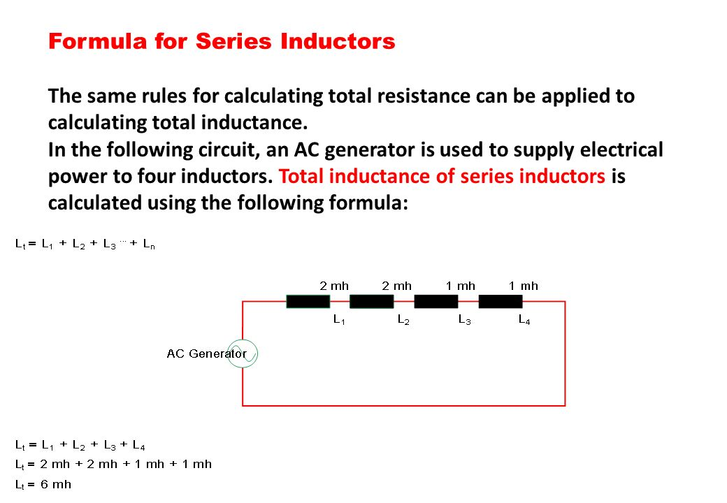Formula for Series Inductors