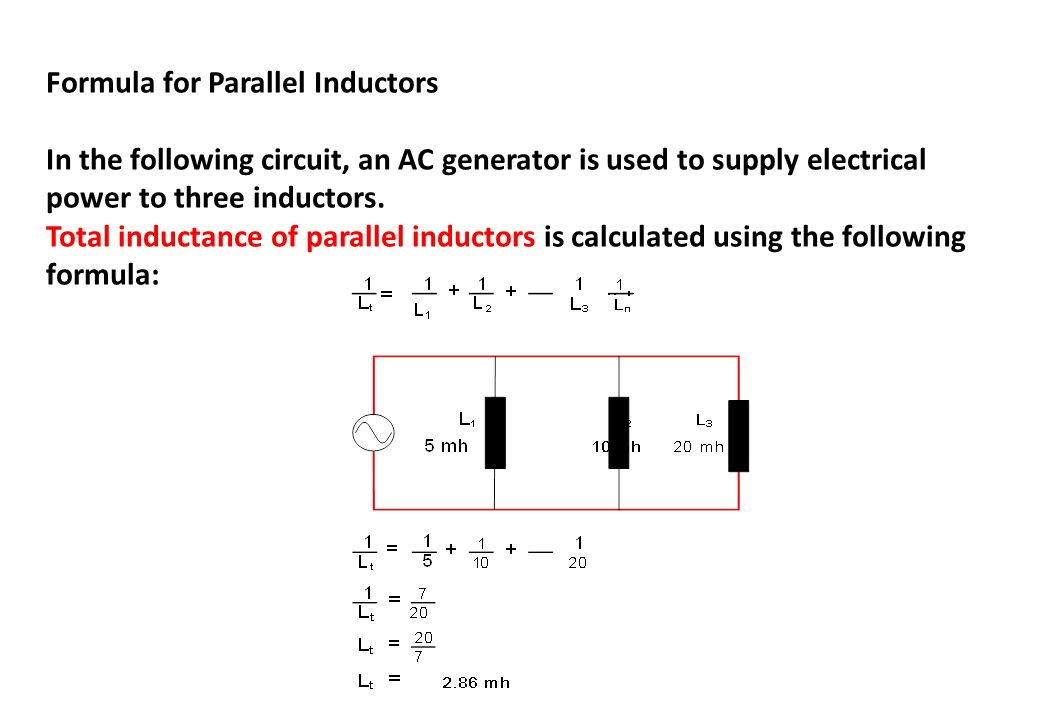 Formula for Parallel Inductors
