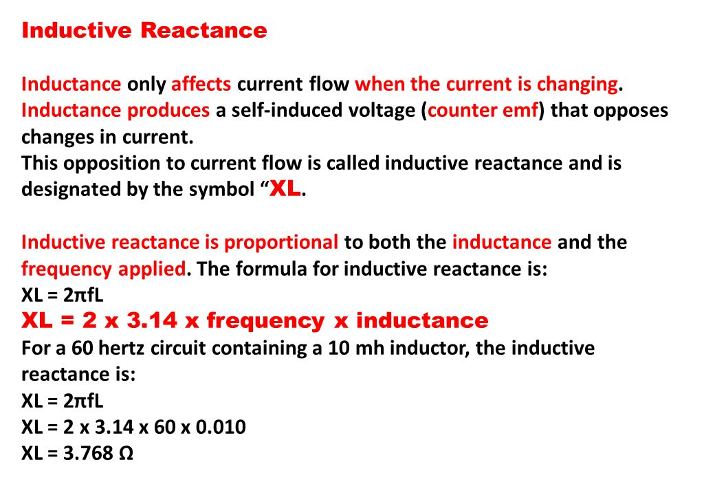Inductive Reactance