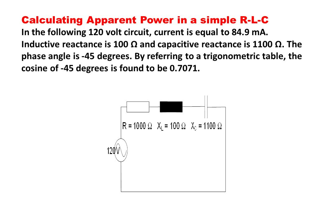 Calculating Apparent Power in a simple R-L-C